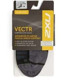 2XU Vectr Ultralight 1⁄4 Crew Socks - Black