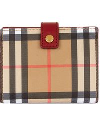 Burberry Vintage Check & Leather Folding Wallet