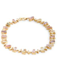 Suzanne Kalan - Yellow Gold, Diamond And Sapphire One Of A Kind Tennis Bracelet - Lyst