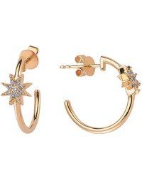 Bee Goddess - Venus Star Diamond Earrings - Lyst