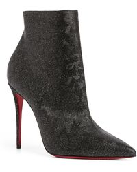 Christian Louboutin So Kate Leather Boots 100 - Black