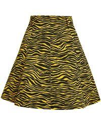 MAX&Co. Animal Print Skort - Yellow
