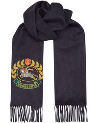 Burberry - Cashmere Archive Logo Scarf - Lyst