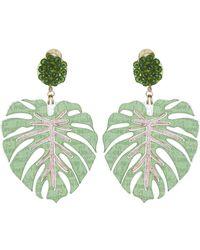 Mercedes Salazar - Palm Leaf Clip On Earrings - Lyst