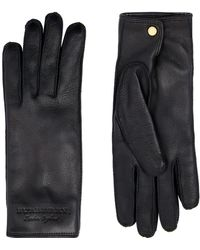 Burberry - Cashmere Lined Leather Gloves - Lyst