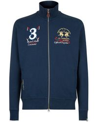 La Martina - Full Zip Crest Sweatshirt - Lyst