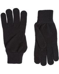 Paul Smith Cashmere Gloves - Black