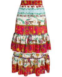 Hayley Menzies Enchanted Leopard Ruffle Skirt - Multicolour