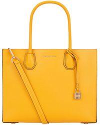 Michael Kors Large Mercer Tote Bag in Yellow - Lyst da8384f169