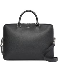 Burberry Leather Briefcase - Black
