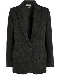 Étoile Isabel Marant Herringbone Wool Charly Jacket - Black