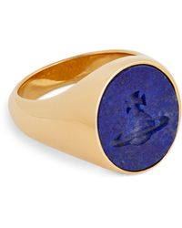 Vivienne Westwood Signet Ring - Metallic