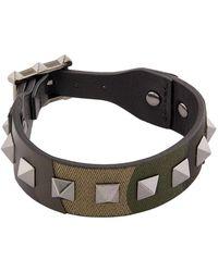 Valentino | Leather Rockstud Bracelet | Lyst