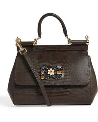 Dolce & Gabbana - Small Leather Sicily Bag - Lyst