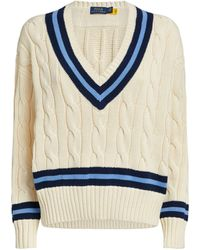 Polo Ralph Lauren Cable-knit Cricket Sweater - Natural