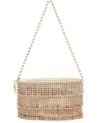 Rosantica Embellished Oval Ginger Shimmy Bucket Bag - Metallic