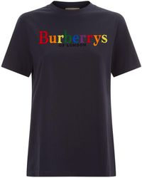 Burberry - Branded T-shirt - Lyst