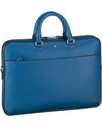Montblanc Leather Meisterstück Ultra-slim Urban Document Case - Blue