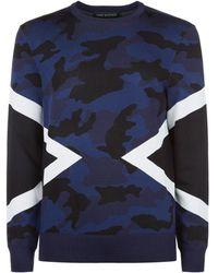 Neil Barrett - Camouflage Sweater - Lyst