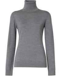 Burberry Wool-silk Rollneck Jumper - Grey