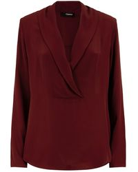 Theory - Shawl Collar Blouse - Lyst