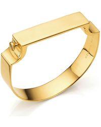 Monica Vinader | Signature Wide Bangle, Gold | Lyst