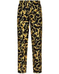 Versace - Silk Baroque Trousers - Lyst