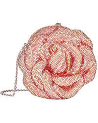 Judith Leiber Crystal-embellished Rose Clutch - Pink