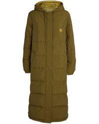 KENZO Longline Reversible Puffer Coat - Natural
