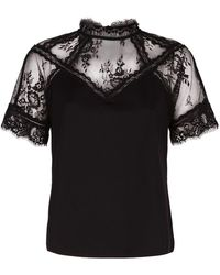 Claudie Pierlot - Lace Panel T-shirt - Lyst