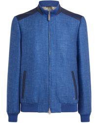 Stefano Ricci Cashmere-blend Bomber Jacket - Blue