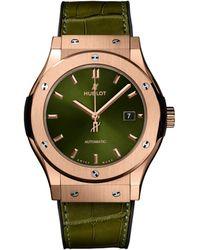 Hublot Classic Fusion King Gold Automatic Watch 42mm - Green
