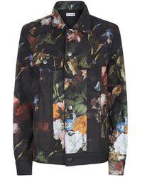 Palm Angels - Floral Print Denim Jacket - Lyst