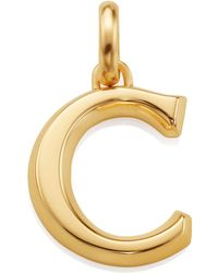 Monica Vinader - Gold Capital C Pendant - Lyst