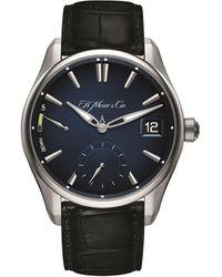 H. Moser & Cie Pioneer Perpetual Calendar Watch 42.8mm - Blue
