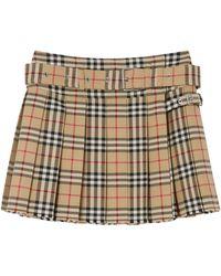 Burberry Vintage Check Mini Skirt - Multicolour