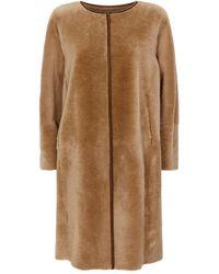 Fabiana Filippi Reversible Shearling Coat - Natural