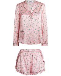 Morgan Lane + Love Shack Fancy Joanie Margo Pyjama Set - Pink