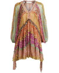 Zimmermann Carnaby Frill Dress - Multicolor