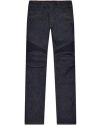 Balmain Biker Pants - Blue