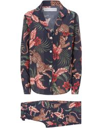 Desmond & Dempsey Soleia Print Pyjama Set - Multicolour