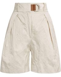 Fabiana Filippi High-waist Bermuda Shorts - White