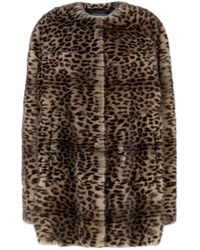 Lilly E Violetta Long Mink Coat - Brown