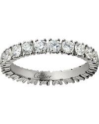 Cartier - Small Platinum And Diamond Destine Ring - Lyst