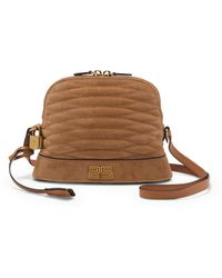 Sandro Quilted Leather Cross-body Bag - Natural
