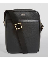 Tom Ford Small Leather Messenger Bag - Black