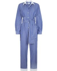 Sandro - Striped Jumpsuit - Lyst