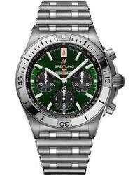 Breitling Stainless Steel Chronomat Bentley Watch 42mm - Green