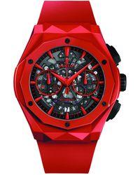 Hublot Ceramic Classic Fusion Aerofusion Orlinski Watch 45mm - Red