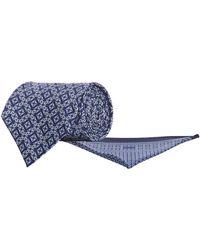 Stefano Ricci - Geometric Silk Tie And Pocket Square - Lyst